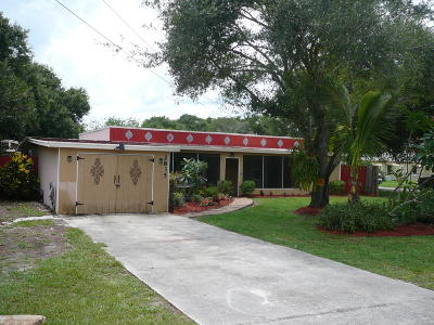 Fort Pierce Single Family Home For Sale: 2835 Rogers Road