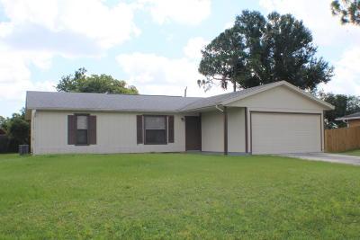 Port Saint Lucie Single Family Home For Sale: 2037 SW Scorpio Lane