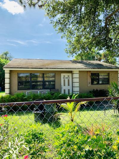 Jupiter Single Family Home For Sale: 17334 Roosevelt Road