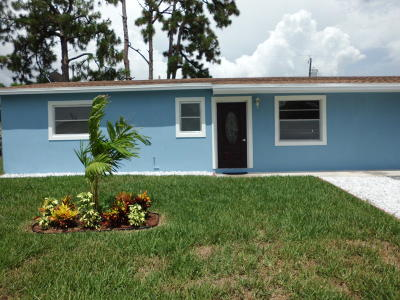 West Palm Beach Single Family Home For Sale: 2131 W Bond Drive