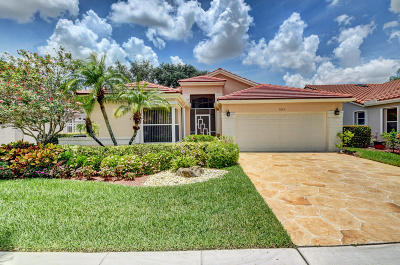 Boynton Beach Single Family Home For Sale: 9625 Harbour Lake Circle