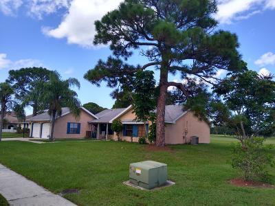 Port Saint Lucie Single Family Home For Sale: 2513 SE Morningside Boulevard