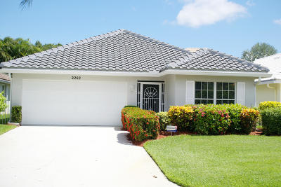 Palm City Single Family Home For Sale: 2202 SW Olympic Club Terrace