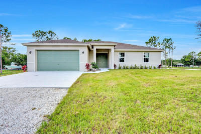 Loxahatchee Single Family Home For Sale: 17990 47th Court