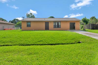 Port Saint Lucie Single Family Home For Sale: 1991 SW Agnes Street