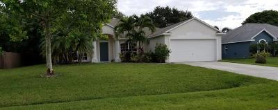 Port Saint Lucie Single Family Home For Sale: 613 SE Stow Terrace