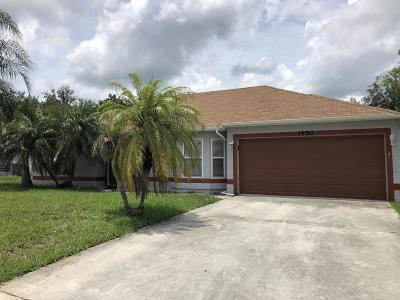 Port Saint Lucie Single Family Home For Sale: 1950 SW Certosa Road