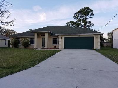 Port Saint Lucie Single Family Home For Sale: 1625 SW Carillo Avenue