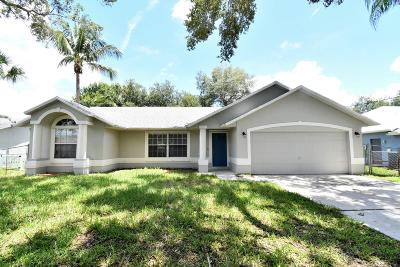 Port Saint Lucie Single Family Home For Sale: 681 SW Aster Road