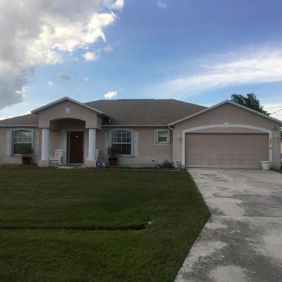 Port Saint Lucie Single Family Home For Sale: 5780 NW Eskimo Circle
