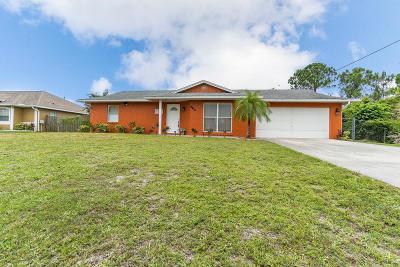 Port Saint Lucie Single Family Home Contingent: 862 SW Harvard Road