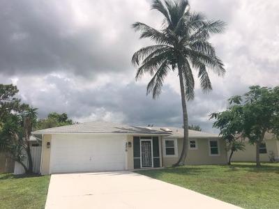 Port Saint Lucie Single Family Home For Sale: 276 SW Langfield Avenue