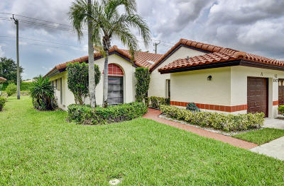 Boynton Beach Single Family Home For Sale: 10679 Palm Leaf Drive #A