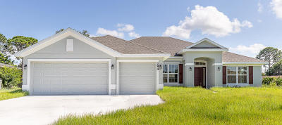 Port Saint Lucie Single Family Home For Sale: 4900 NW Ironton Road