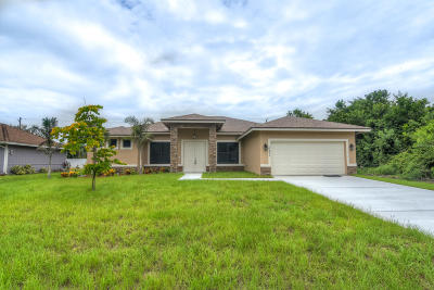 Port Saint Lucie Single Family Home For Sale: 642 SW Icon Avenue