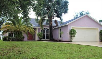 Port Saint Lucie Single Family Home For Sale: 1625 SW Cecelia Lane
