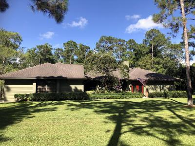 Jupiter Single Family Home For Sale: 10409 Trailwood Circle