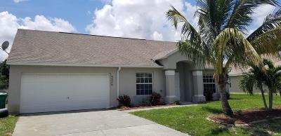 Port Saint Lucie Single Family Home For Sale: 3526 SW Rosardo Street
