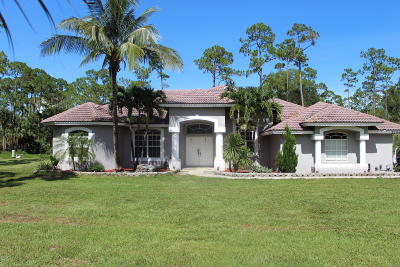 Loxahatchee Single Family Home For Sale: 2796 Fawn Drive