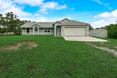 Loxahatchee Single Family Home For Sale: 17769 83rd Place