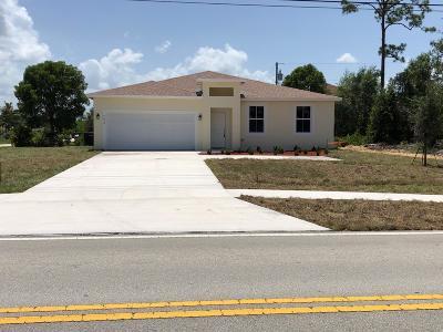 Port Saint Lucie Single Family Home For Sale: 3650 SW Savona Boulevard