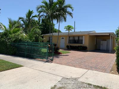 Lake Worth Single Family Home Contingent: 1225 S E Street