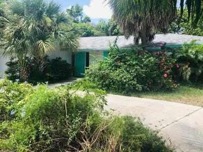 West Palm Beach Single Family Home For Sale: 1861 Caribbean Road W