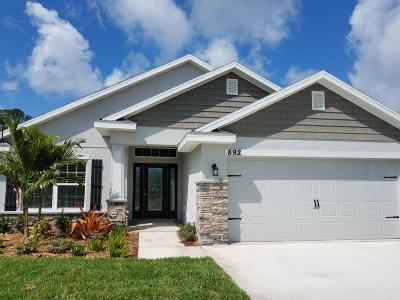 Port Saint Lucie Single Family Home For Sale: 874 NE Whistling Duck Way