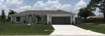 Saint Lucie West Single Family Home For Sale: 5759 NW Cotton Drive