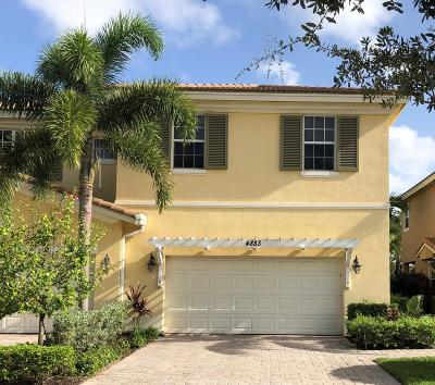 Palm Beach Gardens Townhouse For Sale: 4883 Cadiz