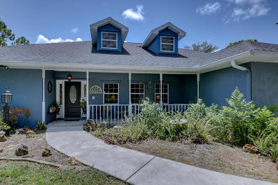 Fort Pierce Single Family Home For Sale: 10613 Pine Cone Lane