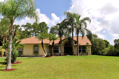 Jupiter Single Family Home For Sale: 9425 Sandy Run