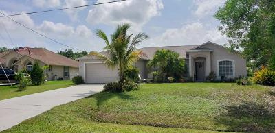 Port Saint Lucie Single Family Home For Sale: 5316 NW Rugby Drive