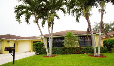 Boynton Beach Single Family Home For Sale: 9860 Pecan Tree Drive #B