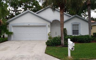 West Palm Beach Single Family Home For Sale: 348 Hammocks Trail