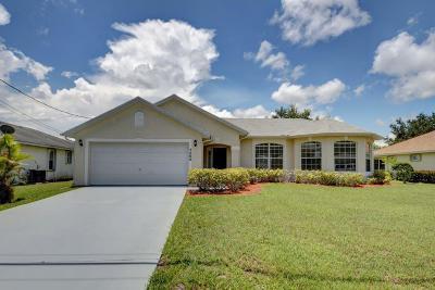 Port Saint Lucie Single Family Home For Sale: 5406 NW Emblem Street