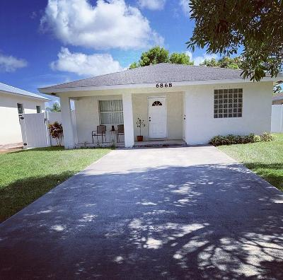 Jupiter Single Family Home For Sale: 6868 Church Street