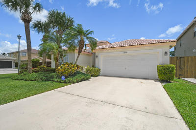 Boynton Beach Single Family Home For Sale: 3699 Potomac Place