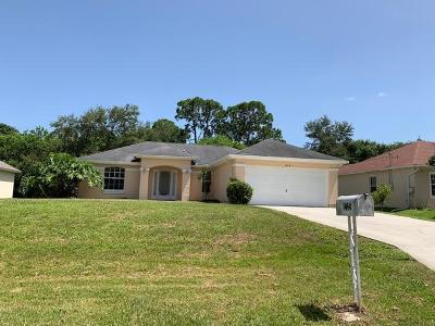 Port Saint Lucie Single Family Home For Sale: 1414 SW Dimperio Avenue