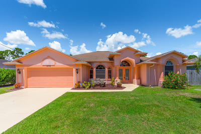 Port Saint Lucie Single Family Home Contingent: 5772 NW Zinnia Street