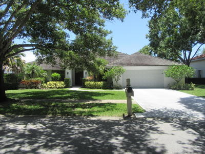 Jupiter Single Family Home For Sale: 6642 Winding Lake Drive