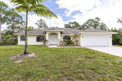 Loxahatchee Single Family Home Contingent: 16931 W Mayfair Drive