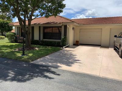 Boynton Beach Single Family Home For Sale: 4585 Rosewood Tree Ct. #A