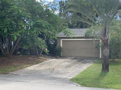 Jupiter Single Family Home For Sale: 14084 Marrian Avenue