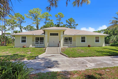 Jupiter Single Family Home For Sale: 10445 154th Road