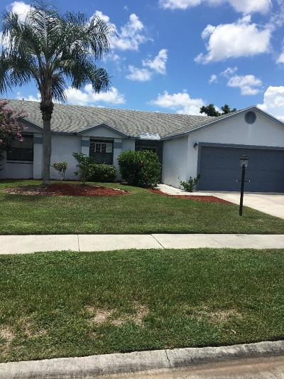 Lake Worth Single Family Home For Sale: 8667 White Egret Way