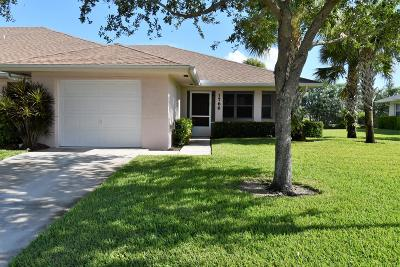 Fort Pierce Single Family Home For Sale: 1766 Dove Tail Drive #D