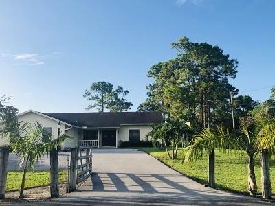 West Palm Beach Single Family Home For Sale: 11513 Tangerine Boulevard