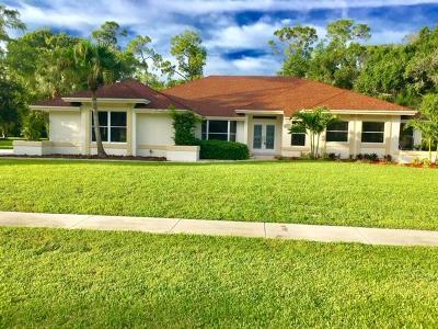 Wellington Single Family Home For Sale: 15140 Cedar Bluff Place