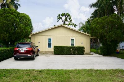 Lake Worth Multi Family Home For Sale: 3780-3784 Wisconsin Street